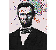 Pixel Splat Photographic Print
