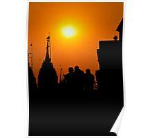 Pilgrims in sunset... Poster
