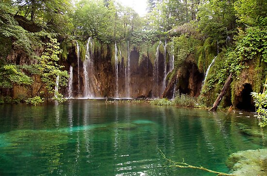 Waterfall at Plitvice Lakes, Croatia by Robert Down