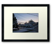 Feb. 19 2012 Snowstorm 71 Framed Print