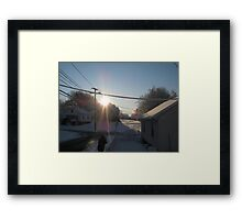 Feb. 19 2012 Snowstorm 107 Framed Print