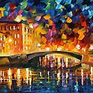 BRIDGE OVER DREAMS - LEONID AFREMOV by Leonid  Afremov