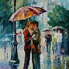 RAINY KISS - LEONID AFREMOV by Leonid  Afremov