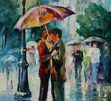 RAINY KISS - LEONID AFREMOV by Leonid  Afremov