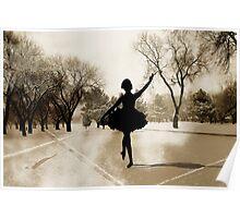 Ballerina Snow Poster