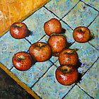 apples on tile by Wayne  Womac