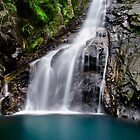 Hiji Falls Close-Up, Okinawa, Japan by jswolfphoto