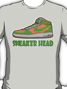 SNEAKER HEAD: GREEN|ORANGE|GREY AIR FORCE ONE MIDS T-Shirt