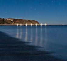 Rapid Bay Jetty Lights Reflections by pablosvista2