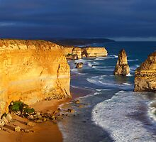Dramatic Light over the Twelve Apostles, Victoria, Australia by Michael Boniwell