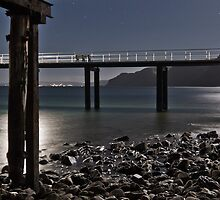 Rapid Bay Jetty in Moonlight by pablosvista2