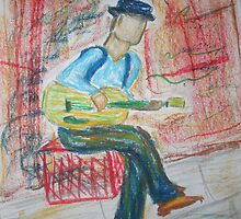 Street Busker by Alison Pearce