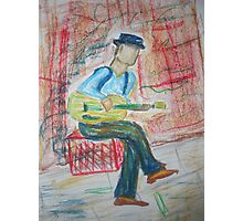 Street Busker Photographic Print