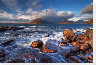 Elgol. The Cuillins across Loch Scavaig. Isle of Skye. Scotland. by photosecosse /barbara jones