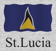 St Lucia flag by stuwdamdorp