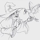 Witch with bird by AgnesHekla