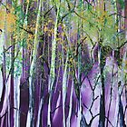 Deep in the Birches - Encaustic Painting by Loreen Finn