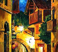 GERMAN VILLAGE - LEONID AFREMOV by Leonid  Afremov