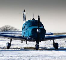 PA28 wrapped up against the cold by Tony Roddam