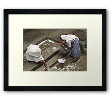 Washing at the Motherhouse Framed Print
