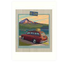 Vintage Squareback at Trillium Lake Art Print