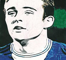 Jose Baxter Everton Comic Book Style Image by chrisjh2210
