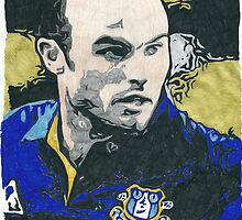 Landon Donovan Everton Comic Book Image by chrisjh2210