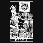 Death Tarot Card (white) by ruckus666