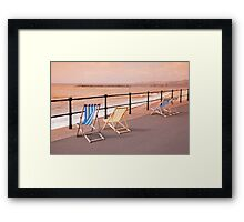 Deck Chairs on Sidmouth Esplanade Framed Print