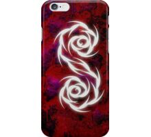 iphone cover- yin yang tribal- red iPhone Case/Skin