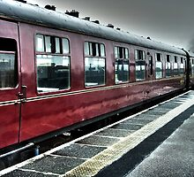 """Hogwarts Express"" in the rain @ Mallaig, Scotland by Aldakila"