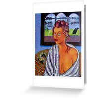 My Candid Mona Lisa Greeting Card
