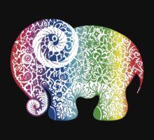 Rainbow Elephant Doodle by Jacqueline Eden