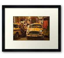 Taxi Talk Framed Print