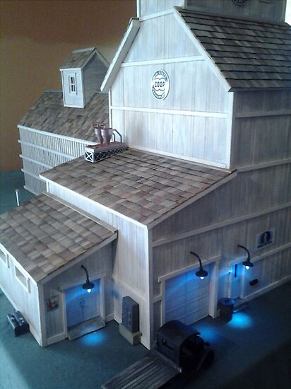 Grain Elevator (A Miniature) by Nadya Johnson