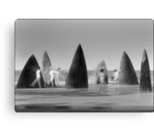 Shark Fins Canvas Print