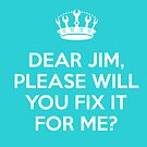Dear Jim, Please will you fix it for me? by Sani Evans