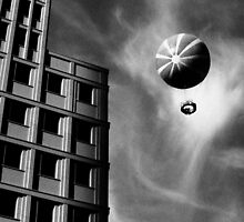 Balloon over Potsdamer Platz in Berlin (and the Ritz-Carlton Hotel) by StudioDestruct