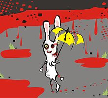 zombie bunny rabbit raining blood april calendar by BigMRanch