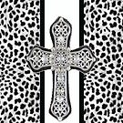 Animal Print Rhinestone Crusted Cross IPhone or I Pod Case by jvinnyg
