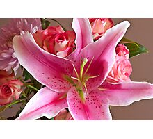 Oriental Lily One Photographic Print