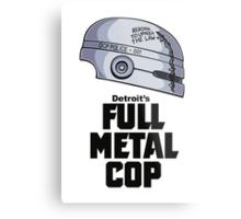 Full Metal Cop Metal Print