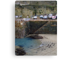 Portreath - Harbour Canvas Print