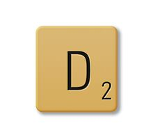 Scrabble Tile - D by axemangraphics