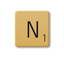Scrabble Tile - N by axemangraphics