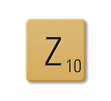 Scrabble Tile - Z by axemangraphics