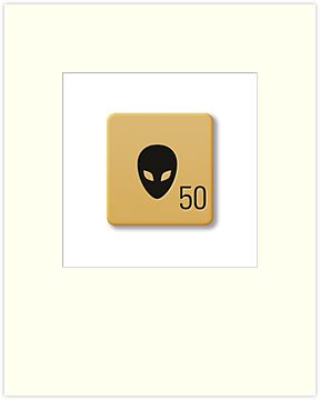 Scrabble Tile - Alien by axemangraphics