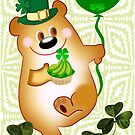 Teddy With St. Patrick's Greeting (894 Views) by aldona