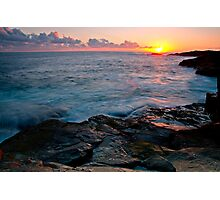 Sunset Boat Harbour Photographic Print