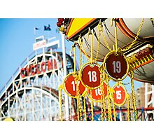 Coney Island Astroland and Cyclone: Brooklyn, NYC Photographic Print